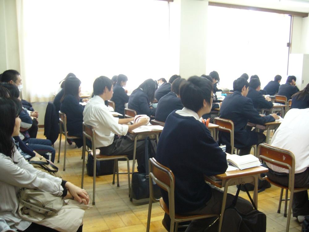 高校 授業参観   金光大阪中学校・高等学校