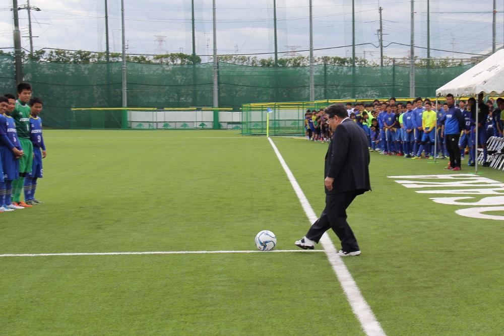 サッカーグラウンド始蹴式   金光大阪中学校・高等学校